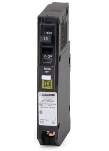 QO115PAFI - Square D 15 Amp Single Pole Arc Fault Circuit Breaker