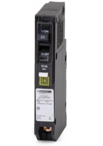 QO120PAFI - Square D 20 Amp Single Pole Arc Fault Circuit Breaker