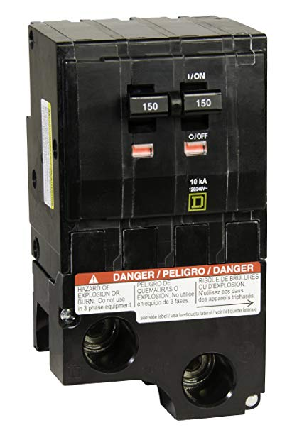 QO2150 - SQUARE D 150A Double Pole Circuit Breaker
