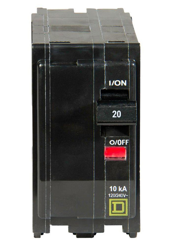 QO220 - Square D 20 Amp Double Pole Circuit Breaker