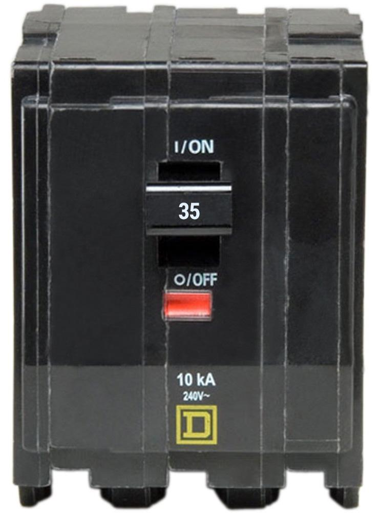 QO335 - Square D 35 Amp 3 Pole Circuit Breaker