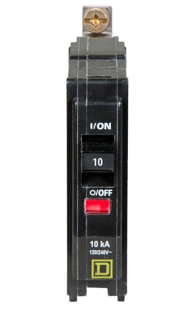 QOB110 - Square D 10 Amp Single Pole Bolt-On Circuit Breaker