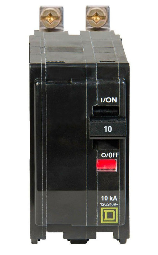 QOB210 - Square D 10 Amp Double Pole Bolt-On Circuit Breaker