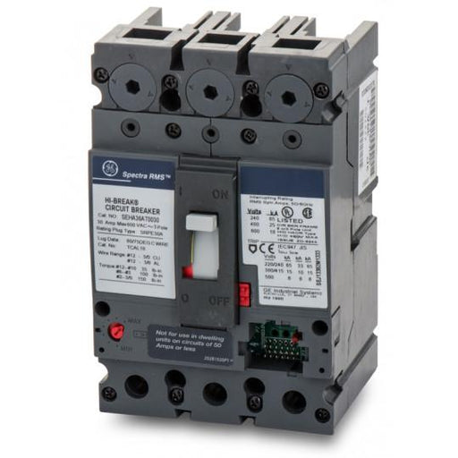 SEHA36AT0030 - GE 30 Amp 3 Pole 600 Volt Bolt-On Molded Case Circuit Breaker