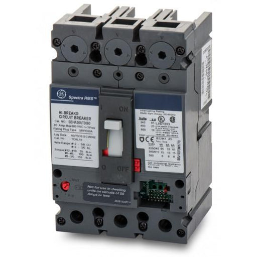 SEHA36AT0060 - GE 60 Amp 3 Pole 600 Volt Bolt-On Molded Case Circuit Breaker