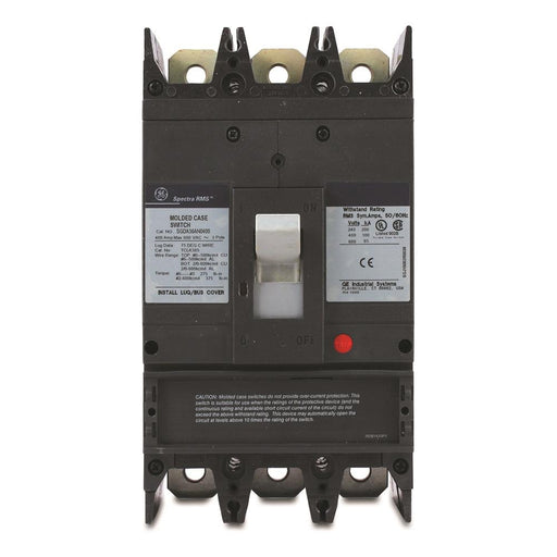 SGDA36AN0400 - GE 400 Amp 3 Pole 600 Volt Molded Case Circuit Breaker