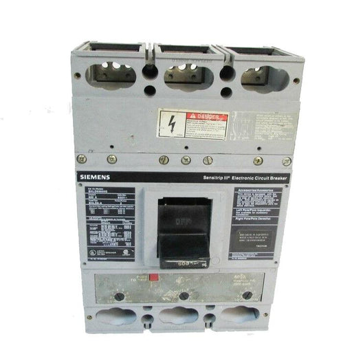 SHLD69600G - Siemens 600 Amp 3 Pole 600 Volt Bolt-On Molded Case Circuit Breaker