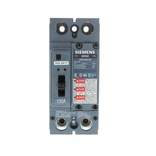 QRH22B100 - Siemens 100 Amp 2 Pole 240 Volt Bolt-On Molded Case Circuit Breaker