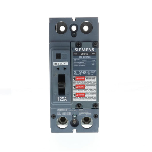 QRH22B125 - Siemens 125 Amp 2 Pole 240 Volt Bolt-On Molded Case Circuit Breaker