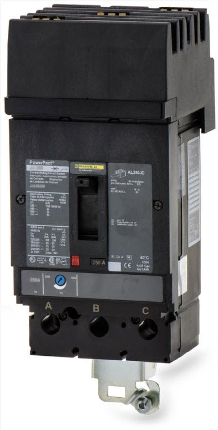 JGA36250 - Square D 250 Amp 3 Pole 600 Volt Molded Case Circuit Breaker