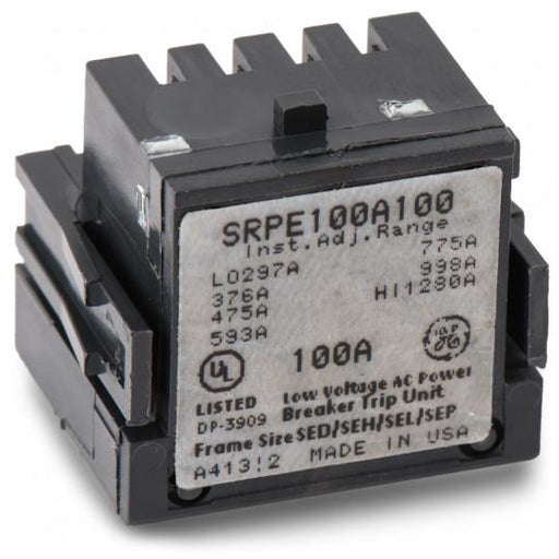 SRPE100A100 - GE 100 Amp 3 Pole 600 Volt Molded Case Circuit Breaker Rating Plug