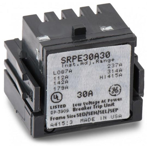 SRPE30A30 - GE 30 Amp 3 Pole 600 Volt Molded Case Circuit Breaker Rating Plug