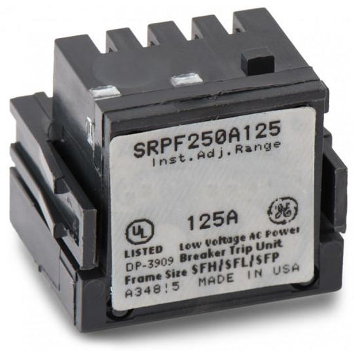 SRPF250A125 - GE 125 Amp 3 Pole 600 Volt Molded Case Circuit Breaker Rating Plug