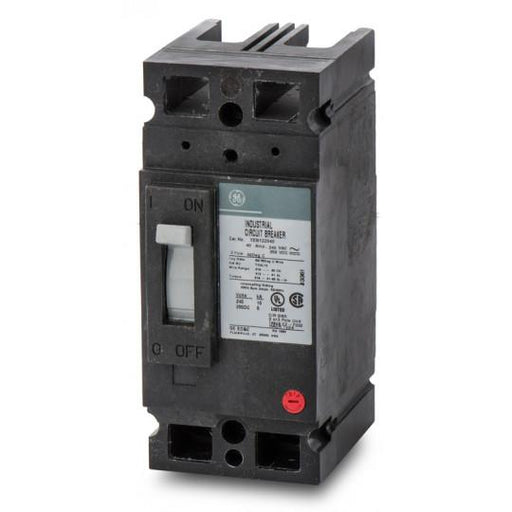 TEB122040WL - GE 40 Amp 2 Pole 240 Volt Molded Case Circuit Breaker General Electric Lug