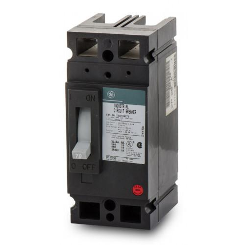 TED124070WL - GE 70 Amp 2 Pole 480 Volt Molded Case Circuit Breaker General Electric Lug