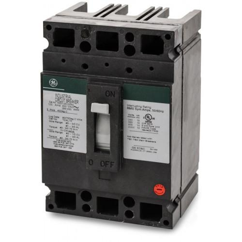 TED136125WL - GE 125 Amp 3 Pole 600 Volt Molded Case Thermal Magnetic Circuit Breaker