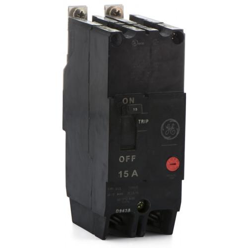 TEY215 - GE 15 Amp 2 Pole 480 Volt Bolt-On Molded Case Circuit Breaker