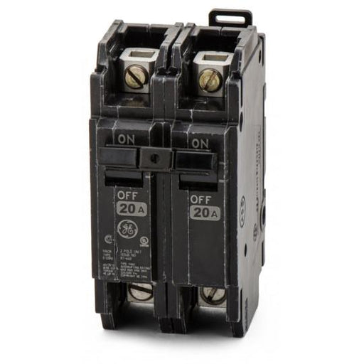 THQC2120WL - GE 20 Amp 2 Pole 240 Volt Molded Case Circuit Breaker