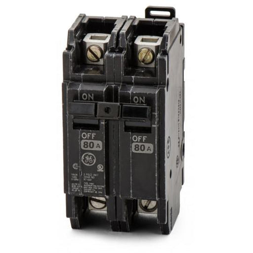 THQC2180WL - GE 80 Amp 2 Pole 240 Volt Molded Case Circuit Breaker
