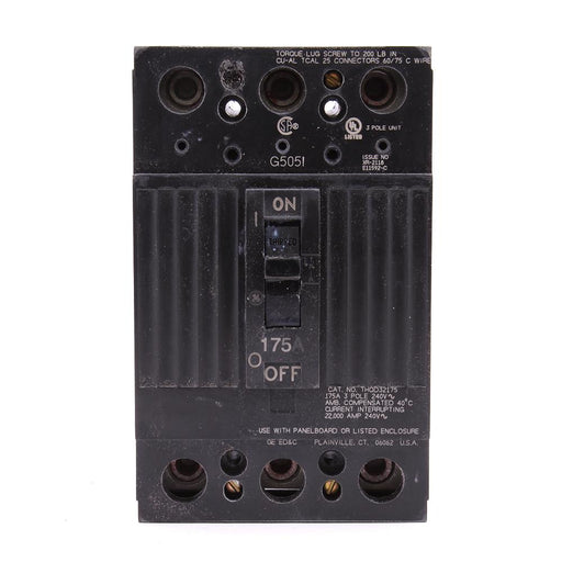 THQD32175WL - GE 175 Amp 3 Pole 240 Volt Molded Case Circuit Breaker