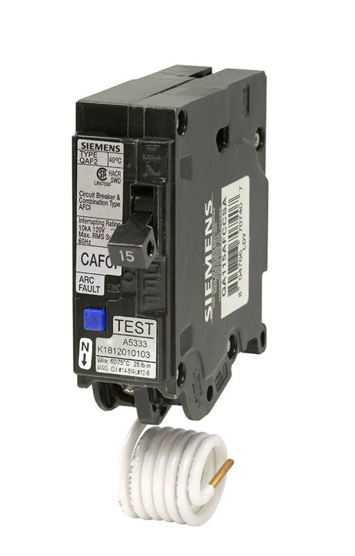 QA115AFCCSA - Siemens 15 Amp Single Pole Combination AFCI Circuit Breaker