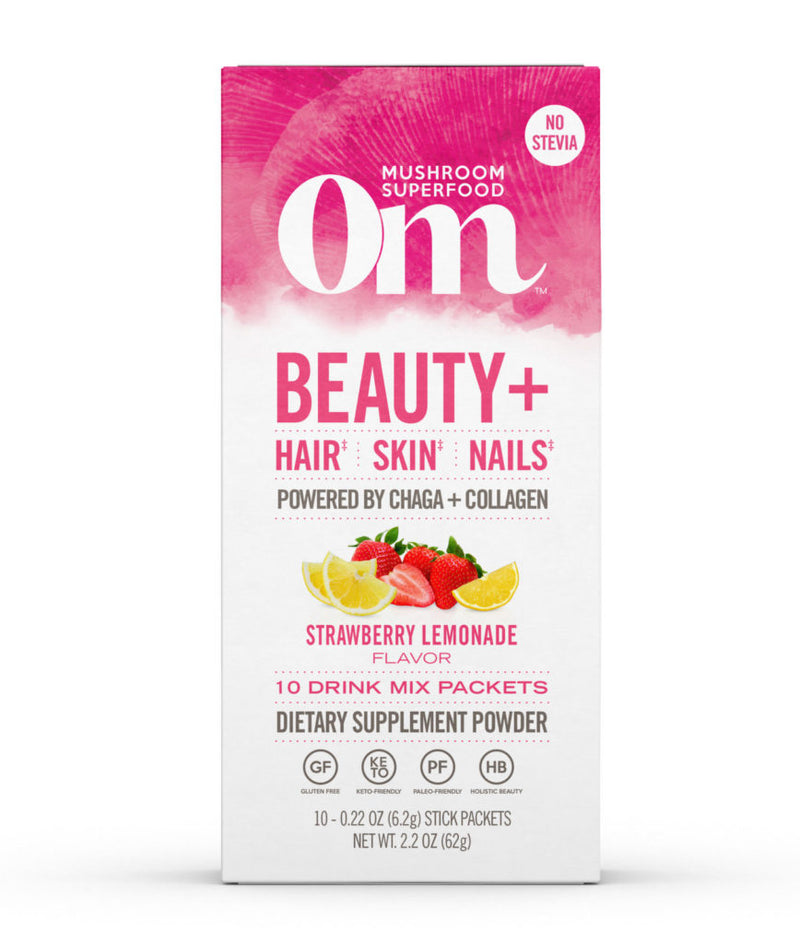 Om Beauty+ Strawberry Lemonade Drink Sticks