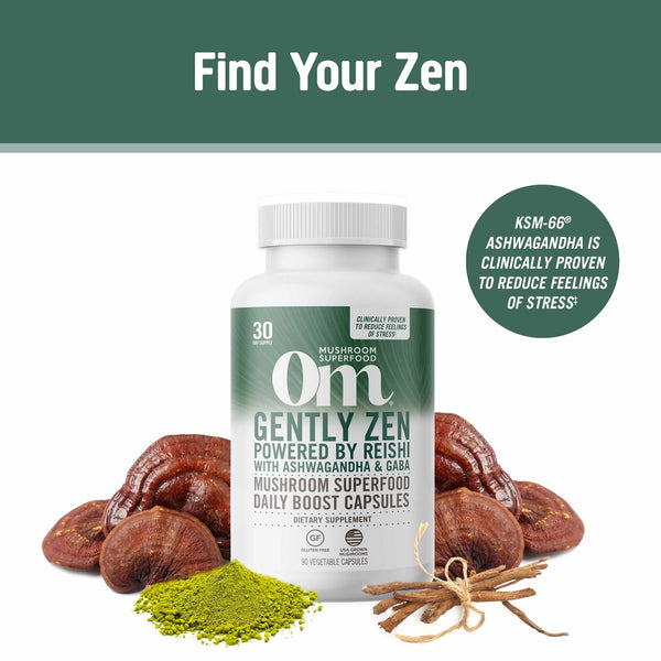 Om Gently Zen Mushroom Superfood Capsules