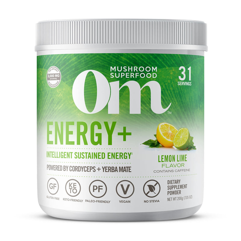 Om Energy+ Lemon Lime 200g / 31 Servings