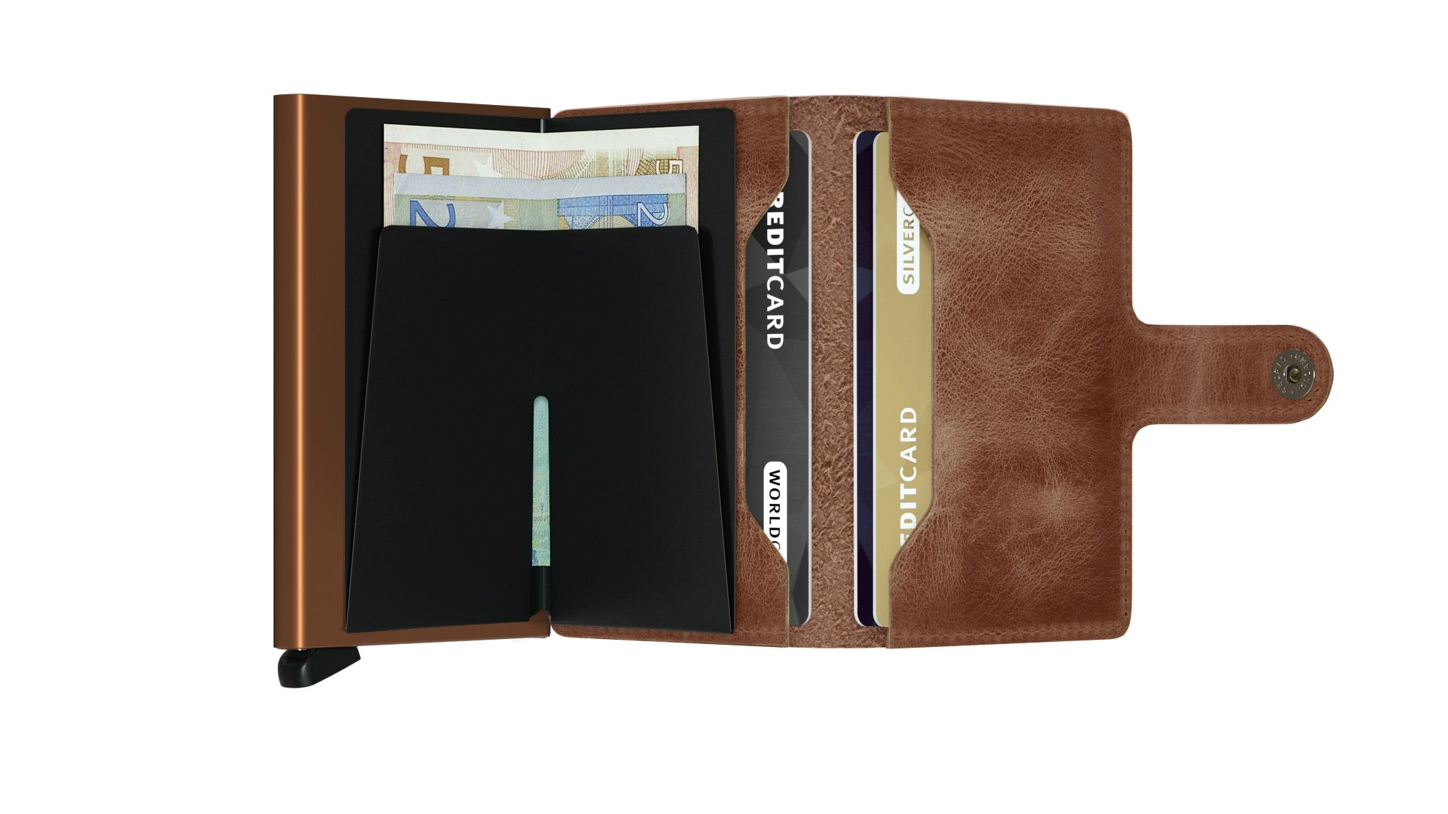 Secrid Mini Wallet Cognac Rust