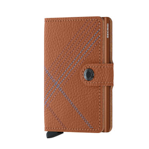 Secrid Caramello Linea Stitch Mini Wallet