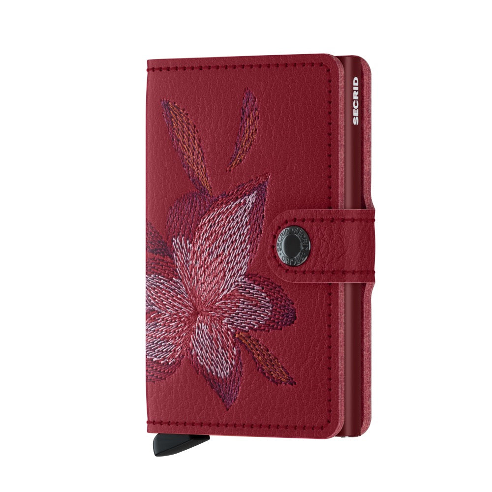 Secrid Magnolia Rosso Stitch Mini Wallet