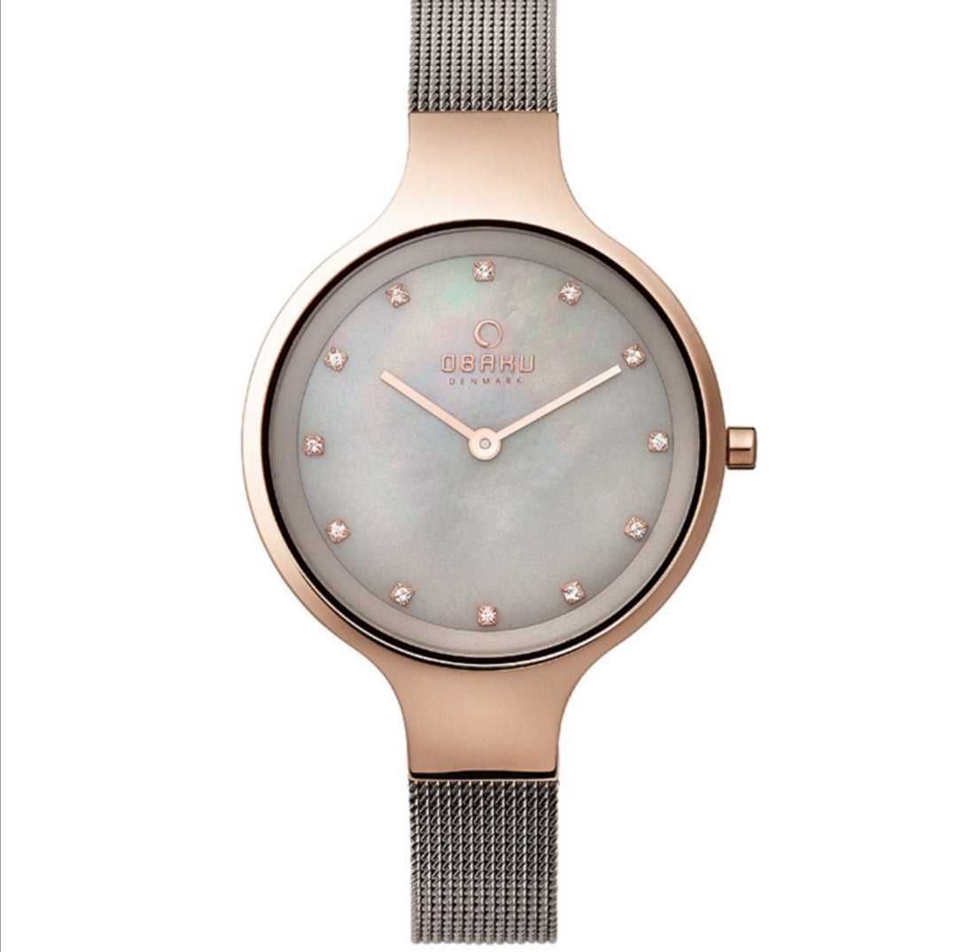 Obaku Ladies mother of pearl dial dress watch