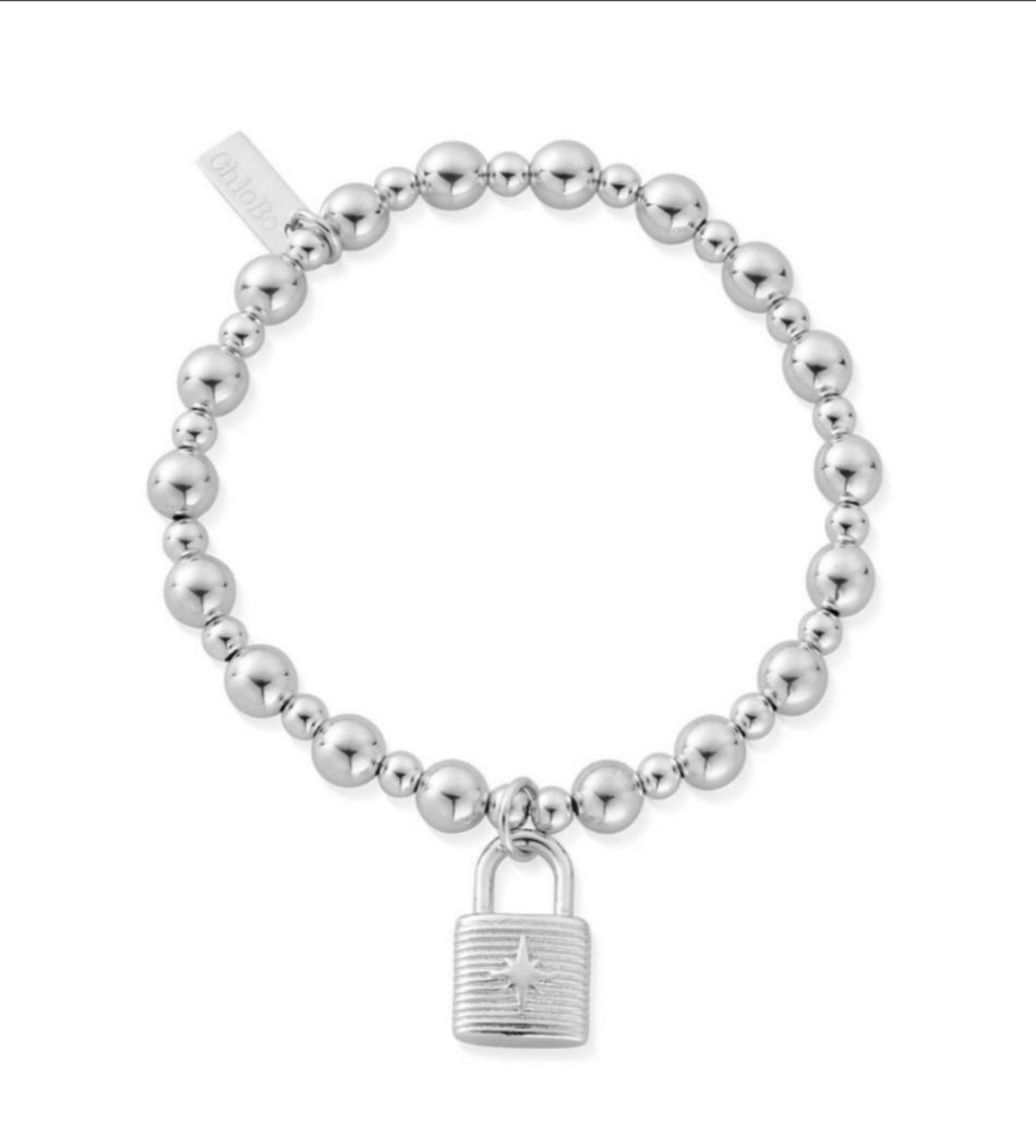 Mini small ball padlock bracelet