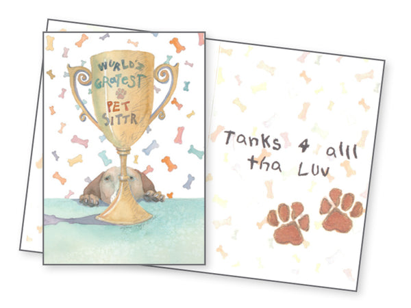 Pet Sitter Thank You Card - World's Greatest