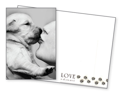 Dog Love Card - Love Is All You Need