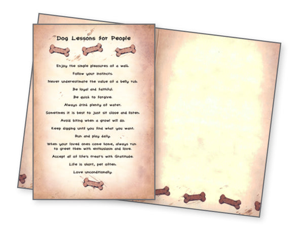 Dog Greeting Card - Dog Lessons For People