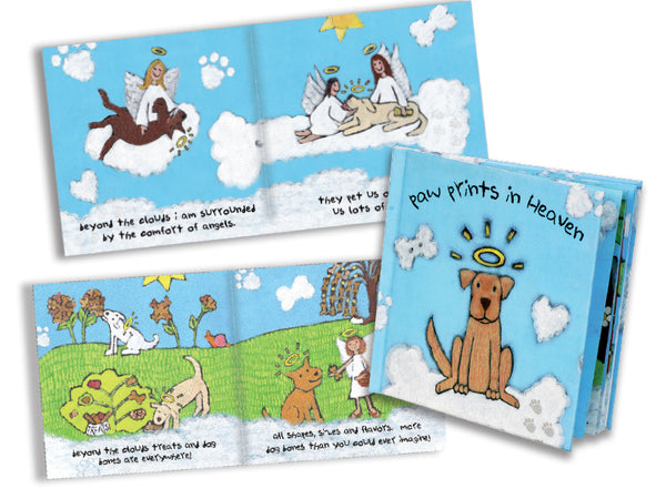 Pet Sympathy Book - Paw Prints in Heaven