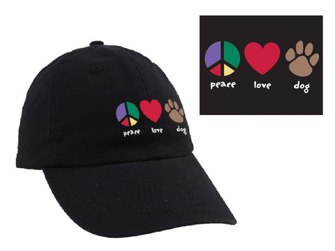 Ball Cap - Peace Love Dog