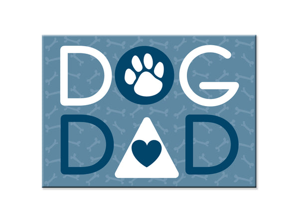 Rectangle Button Magnet - Dog Dad
