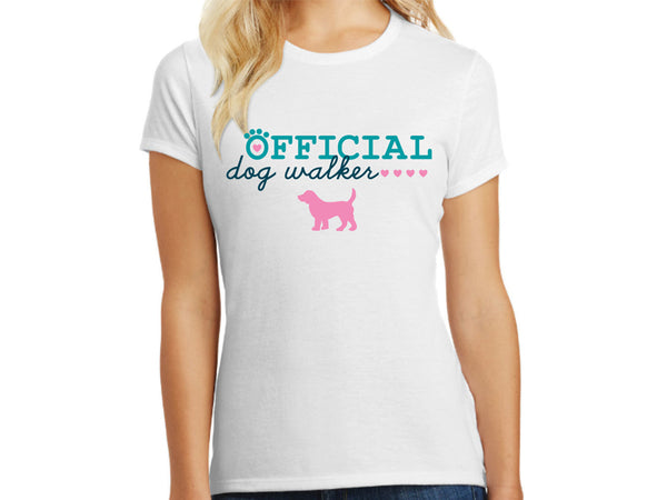 Ladies T - Shirt - Official Dog Walker
