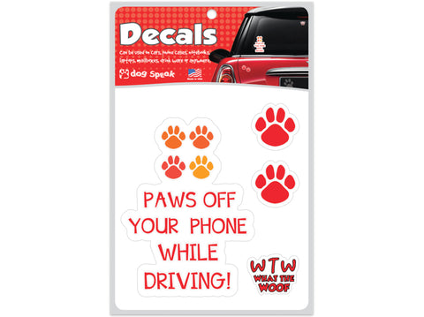 Paws Off Your Phone Decal Sheet