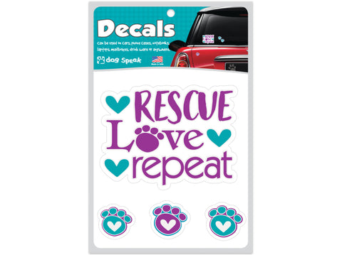 Rescue Love Repeat Decal Sheet