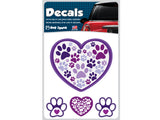 Heart with Paw Prints Decal Sheet