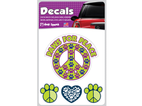 Paws for Peace Decal Sheet