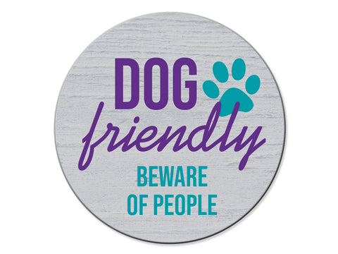 Absorbent Stone Car Coaster - Dog Friendly....Beware of People!