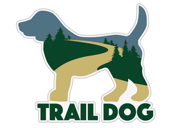 "Trail Dog 3"" Decal"