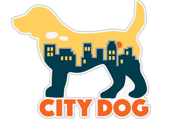 "City Dog 3"" Decal"