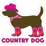 "Country Dog 3"" Decal"