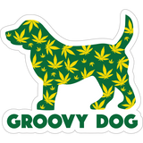 "Groovy Dog 3"" Decal"