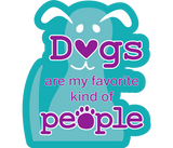 "Dogs Are My Favorite Kind of People Dog 3"" Decal"